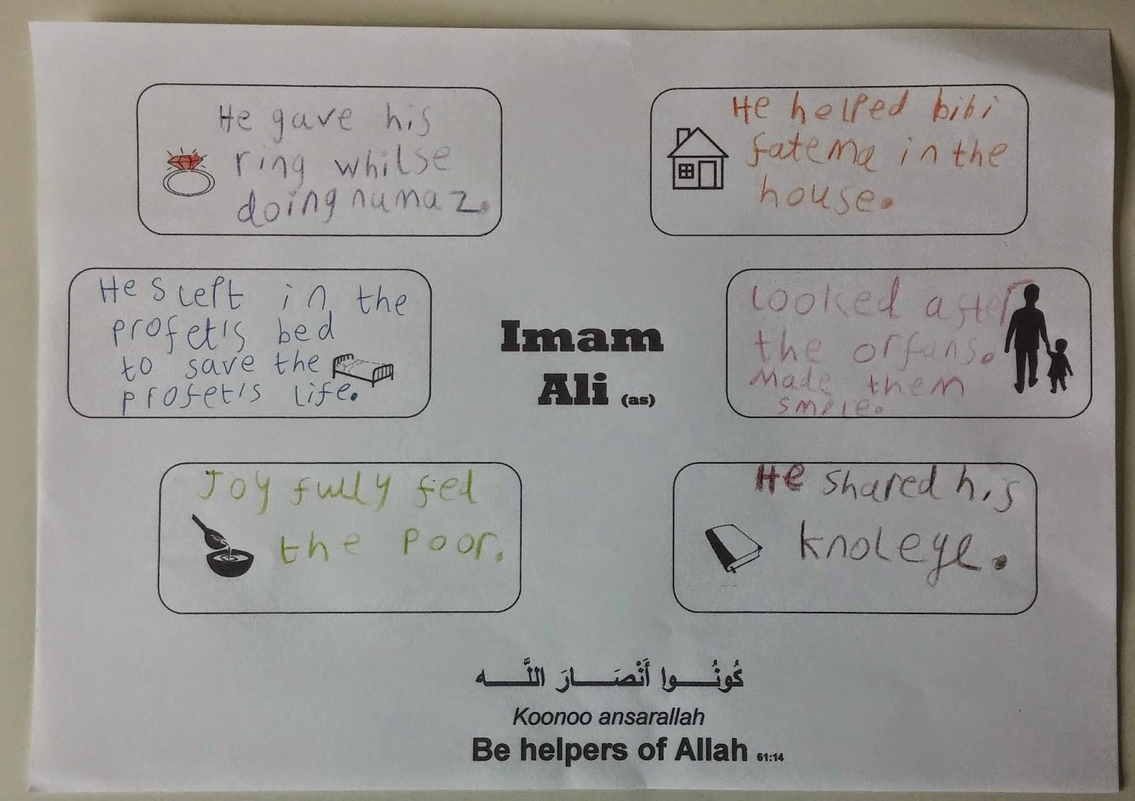 Imam Ali A Helper Of Allah
