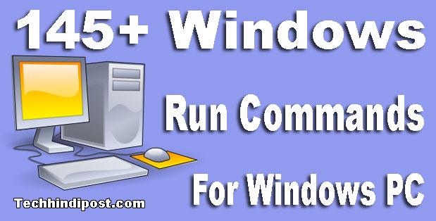 145+ Run Command for Windows Computer in hindi