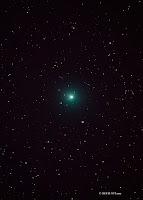 Kometa 46P/Wirtanen, zdjęcie z 12.2.2018 r. Credits: Mike O'Leary. Mount Laguna, Kalifornia, Stany Zjednoczone Canon 5D4 + TeleVue NP-101 - 540 mm na f/5.4, ISO 4000, eksp. 1x60 sek.