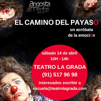 taller de clown, humor, vulnerabilidad, actor, actriz, ridículo, emociones, fracaso