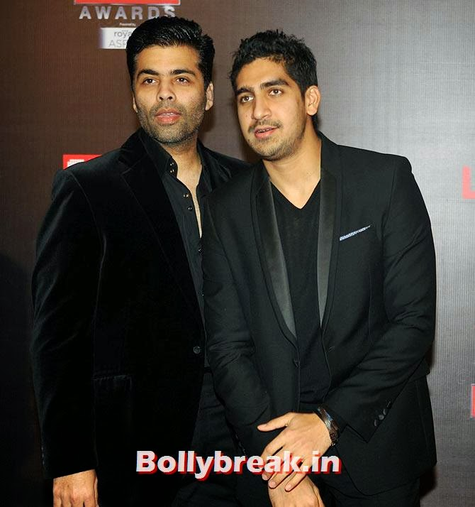 Karan Johar and Ayan Mukherji, Life Ok Screen Awards 2014 Red Carpet Photos