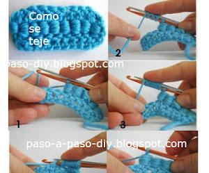 Cómo tejer Punto Gusano / How crochet Bullion Stitch