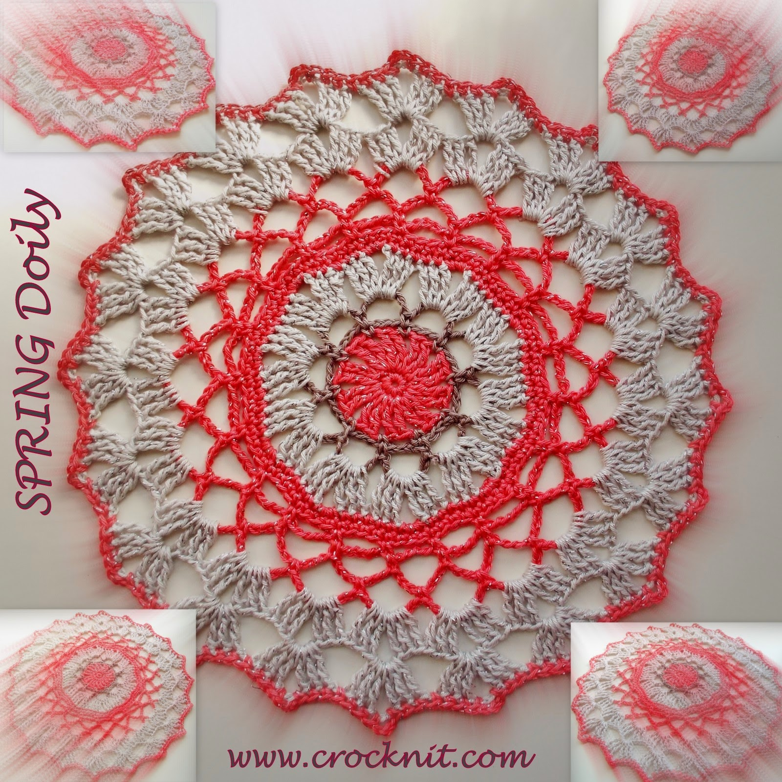 crochet pattern doily coaster spring cotton