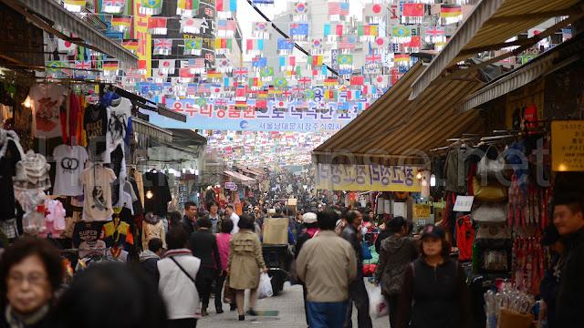 Chợ Dongdaemun nằm ở Jongnogu - Seoul