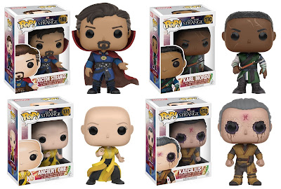 Doctor Strange Movie Pop! Marvel Vinyl Figures by Funko - Sorcerer Supreme Dr. Stephen Strange, Karl Mordo, the Ancient One & Kaecilius
