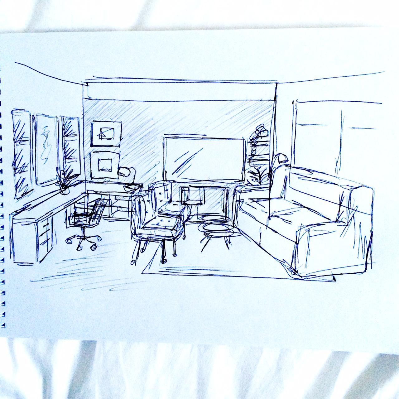 Mood Board Living Room Office Moody Scandinavian Chic