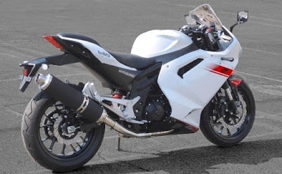 Hyosung GT300R side profile White image