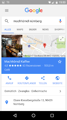 Google My Business auf dem Smartphone