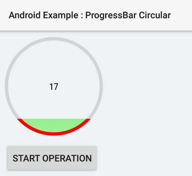 How to create a circular ProgressBar in Android