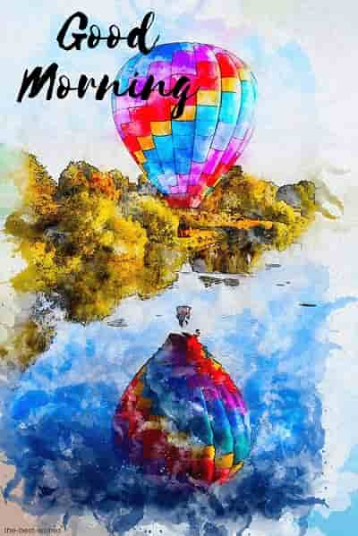 hot air balloon watercolor vintage picture