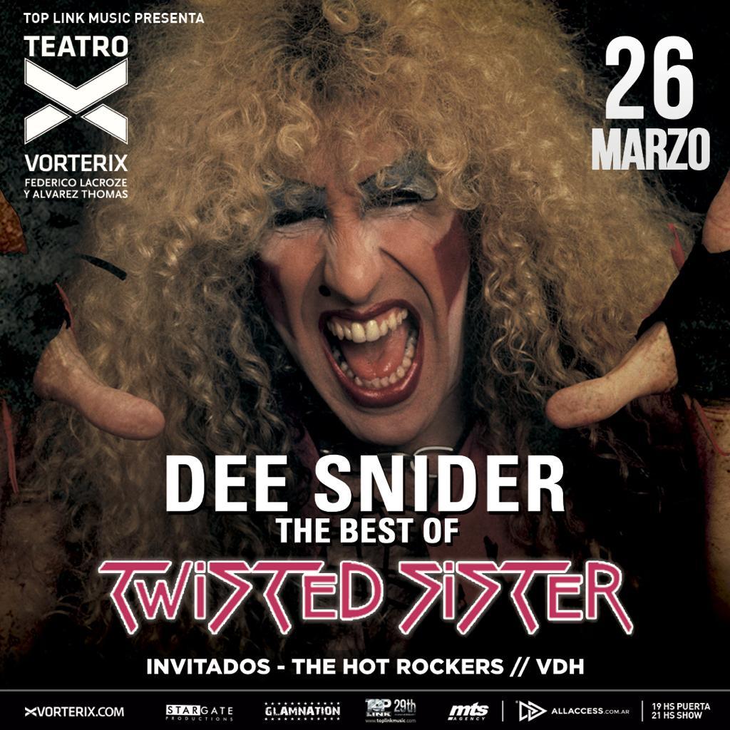 """Dee Snider llega al Teatro Vorterix en el marco de su gira """"For The Love Of Metal Tour 2019"""""""