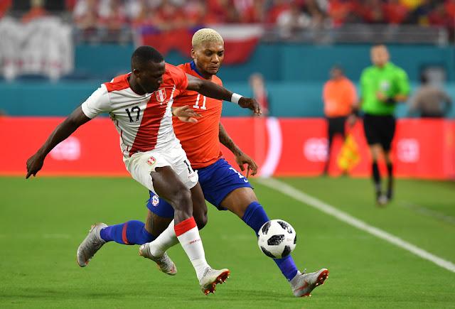 Perú y Chile en partido amistoso, 12 de octubre de 2018