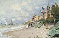Claude Monet La Plage à Trouville. 1870 Sotheby's. 2008