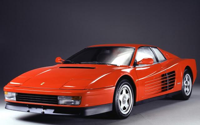 Ferrari Testarossa classic Italian supercar
