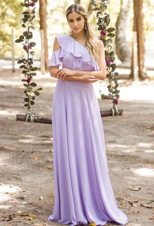 vestido lavanda longo