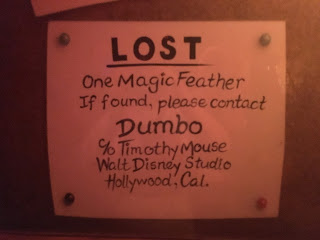Dumbo lost feather Disneyland