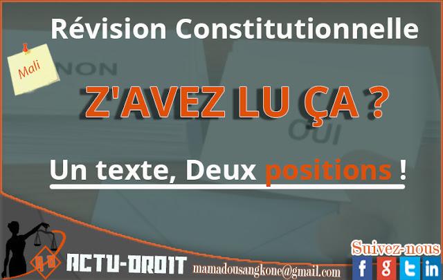 Révision Constitutionnelle : Z'AVEZ LU ÇA ?