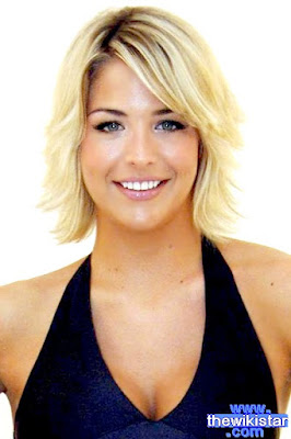 Gemma Atkinson, English TV celebrity and underwear model.
