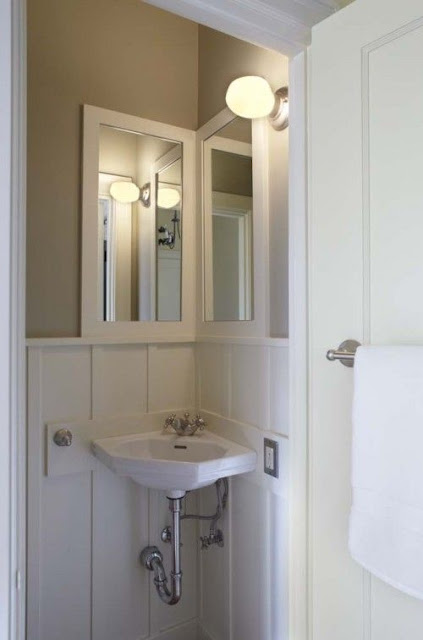 small bathroom corner sink flush mount