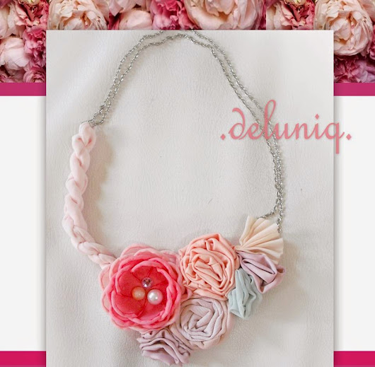 flowery statement necklace by deluniq