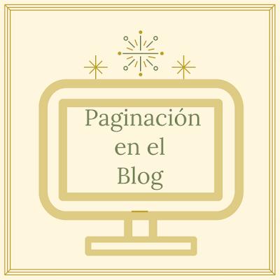 Como poner paginación en el blog