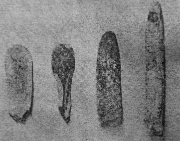 Gambar alat alat tulang di Gua Sampung, Jawa-timur