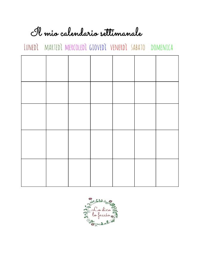 calendario settimana