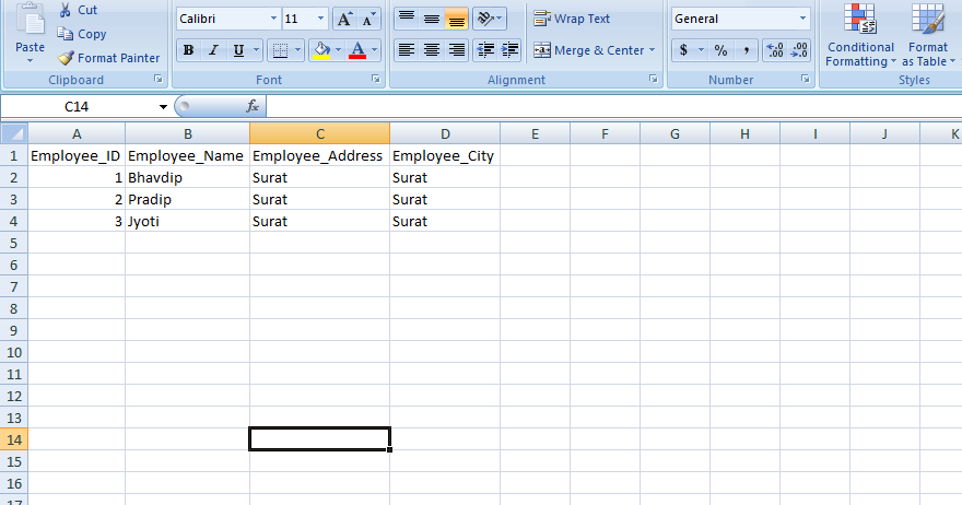 Bhavdip Tala Output Table From Database Or Sp Directly
