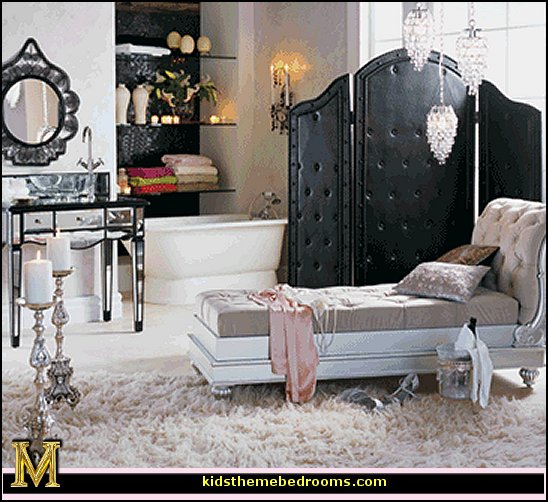 Decorating theme bedrooms maries manor hollywood glam for Decor glamour