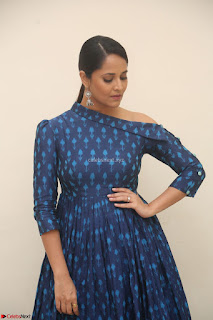 Anchor Anasuya in a Blue Gown at Jai Lava Kusa Trailer Launch ~  Exclusive Celebrities Galleries 017.JPG