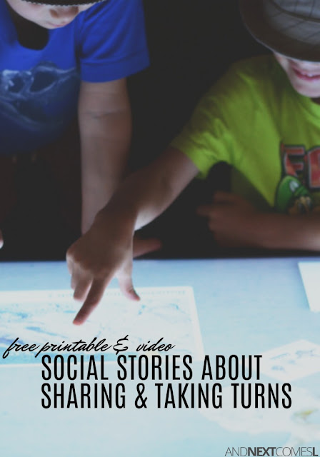 Free social stories for kids about sharing and taking turns