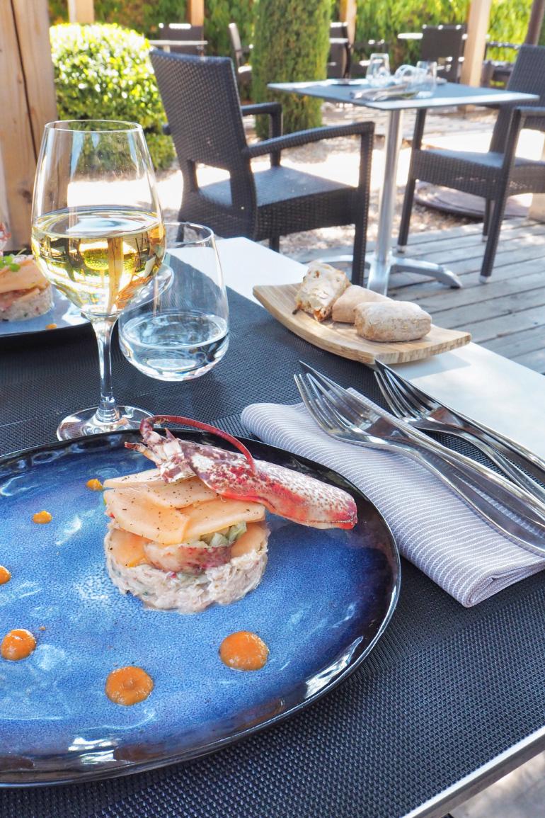 Déjeuner au restaurant gastronomique Coteaux et Fourchettes à Cairanne