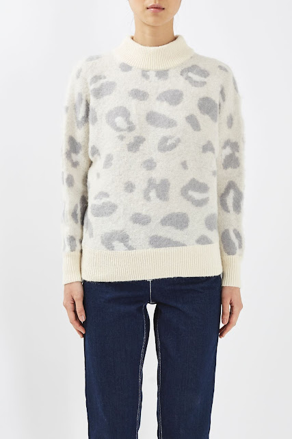 cream leopard jumper