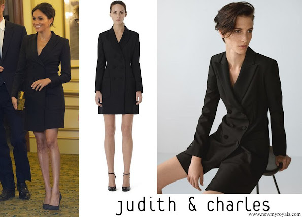 Meghan Markle wore Judith & Charles Digital Dress from Winter 2016 Collection