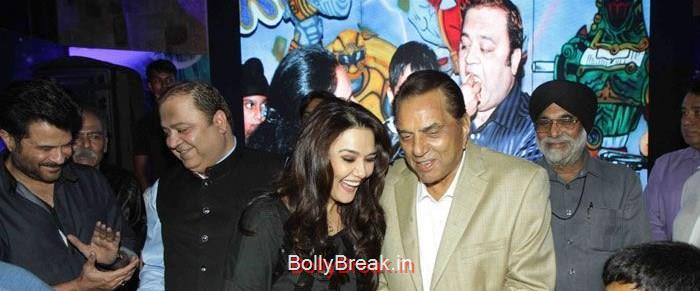Kishor Dhingra, Preity Zinta, Dharmendra, Hot HD Images of Priety Zinta at Aakash Dingra's 7th Birthday Bash