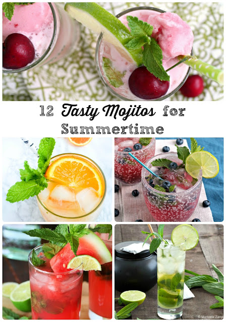 The classic mojito is taken to a whole other level of deliciousness with the addition of sweet summer berries & fruits in these 12 Tasty Mojito Recipes for Summertime.