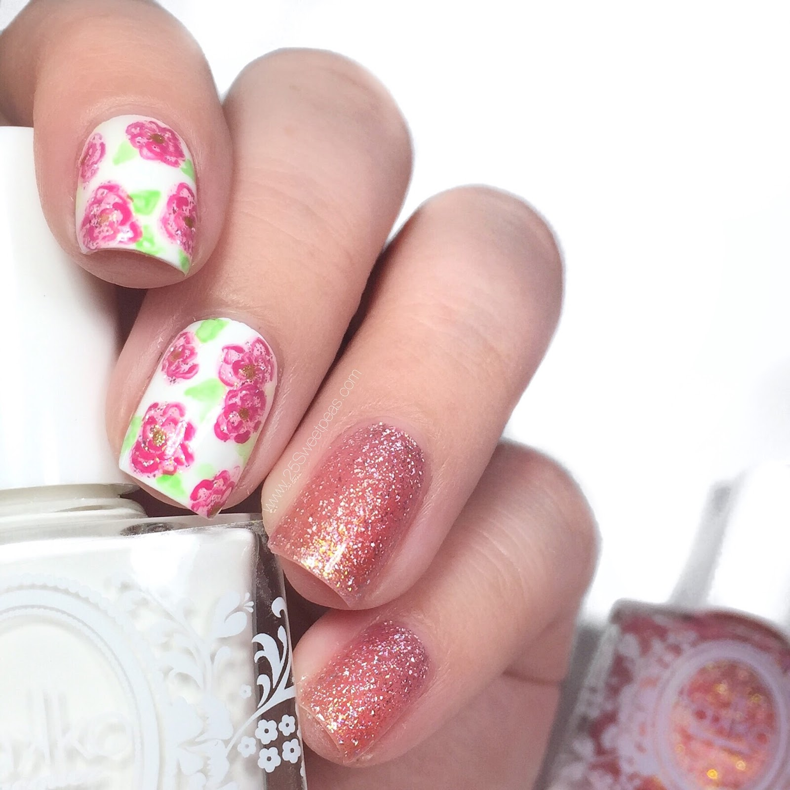 How To | Loose Flower Nail Art - 25 Sweetpeas