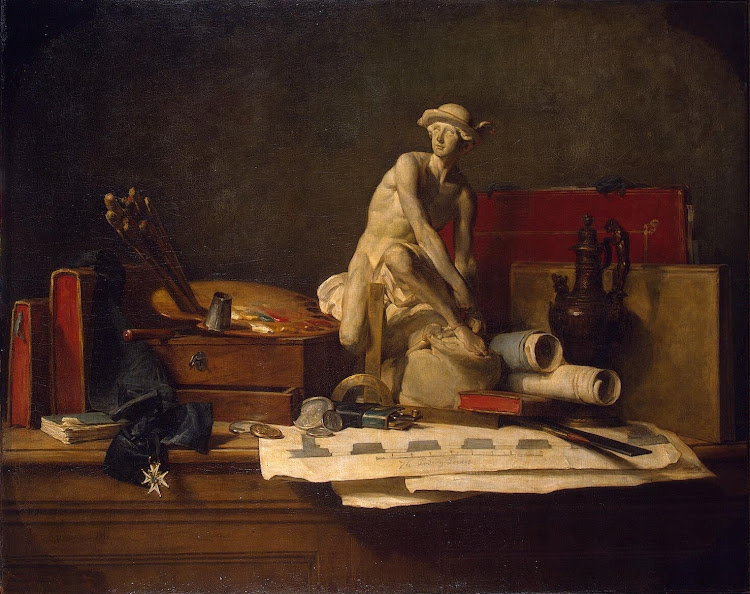 Chardin Jean-Simeon - Still Life with Attributes of the Arts