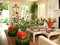Tropical Colors For Living Room