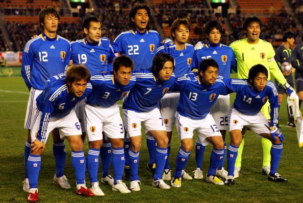 Formación de Japón ante Chile, amistoso disputado el 26 de enero de 2008
