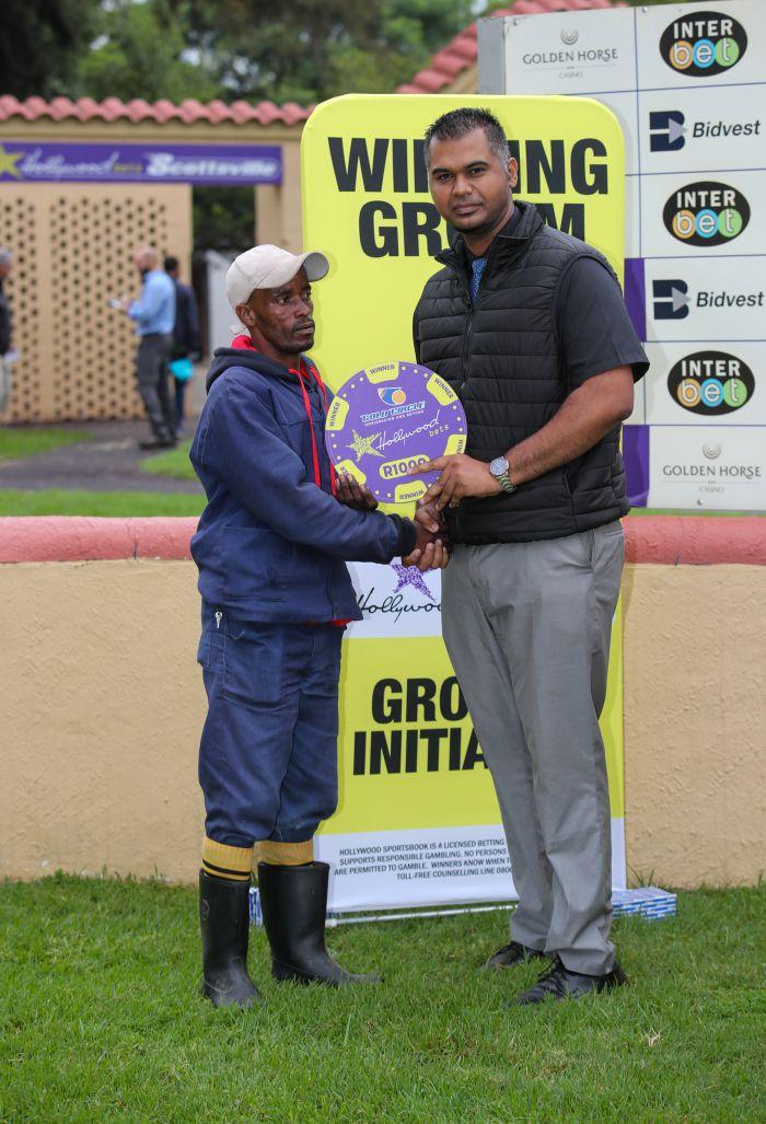 Grooms Initiative Winner - 22nd December 2019 - Race 9 - Mhozana Lumkwana - PAPER BALLERINA