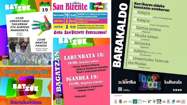 Actividades de Korrika Kulturala en Barakaldo