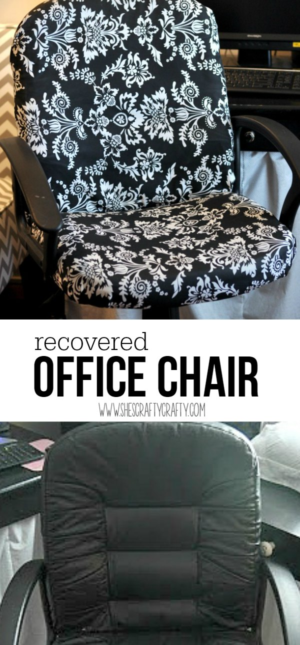 covered leather office chair, boring office chair, rolling chair, chair recover