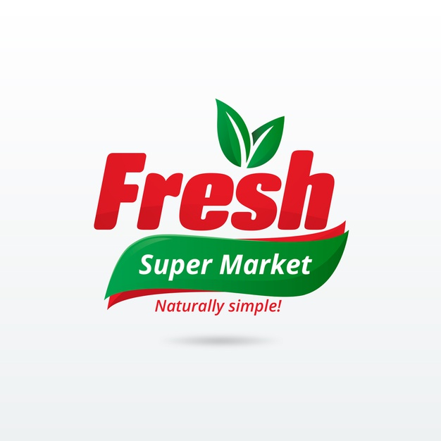 Supermarket logo template Free Vector