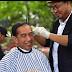 Kang Herman Grogi tapi Bangga Saat Cukur Rambut Jokowi