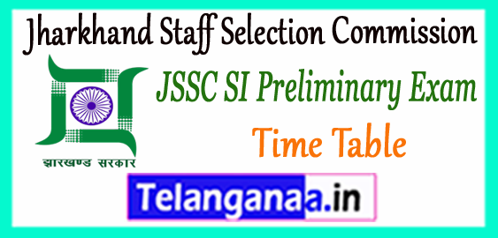 JSSC Jharkhand Staff Selection Commission SI Prelims Syllabus 2018 Time Table Expected Cutoff