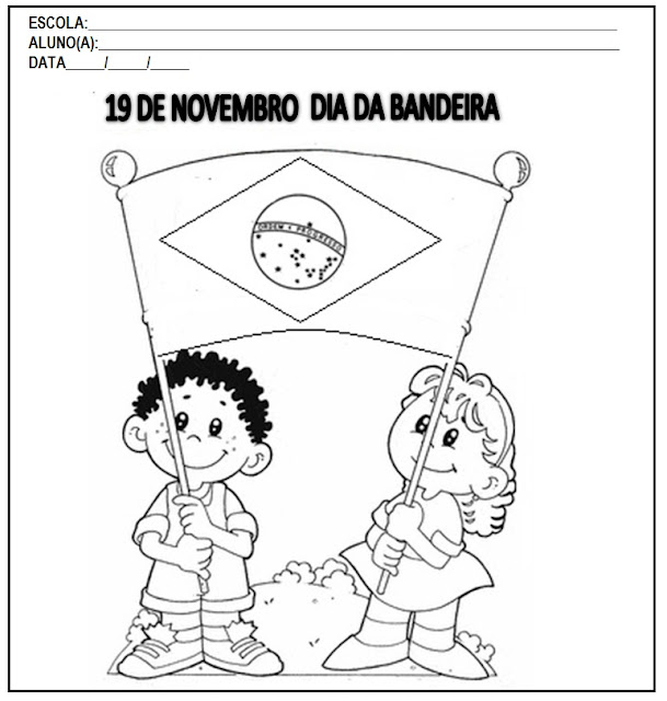 Resultado de imagem para dia da bandeira 2017 atividades.