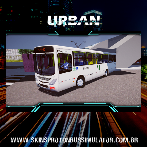 Skin Proton Bus Simulator - Torino 07 MB OF-1519 BT5 Azul Transportes