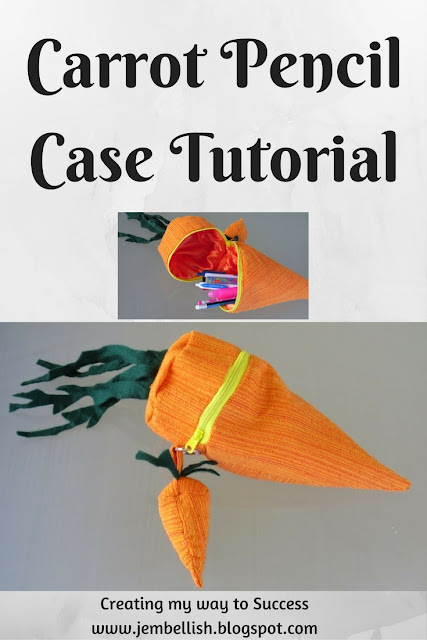 Carrot Pencil Case