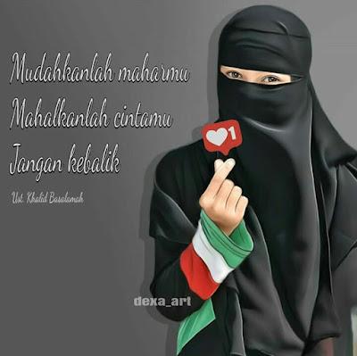 DP BBM Wanita Muslimah Bercadar Tentang Cinta